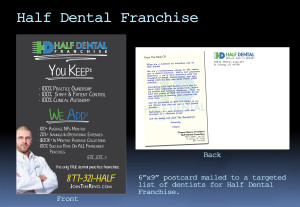 Half Dental Franchise Postcard