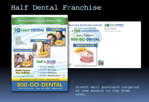 Half Dental Orem New Movers Postcard